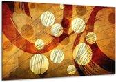 Canvas schilderij Art   Bruin, Geel   120x70cm 1Luik