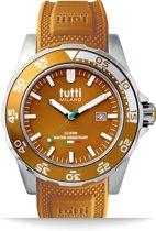 Tutti Milano TM900BR- Horloge -  42.5 mm - Bruin - Collectie Corallo