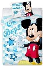 Baby dekbedovertrekje - Mickey Mouse ledikant boy: 100x135/40x60 cm