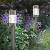 Tuinverlichting op zonne-energie voor op tafel of in de grond - set van 2 stuks