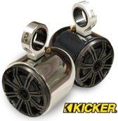 Monster Tower Kicker Single Barrel Wakeboard Tower Speaker Polished & Anodized