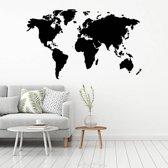 Muursticker Wereldkaart -  Geel -  160 x 98 cm  - Muursticker4Sale