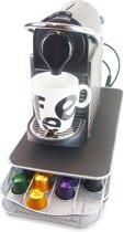 Vannons - Capsulehouder met Lade - Koffie capsule houder - Espressomachine Standaard met Lade - Koffie Cups Pads Opbergen - 40 Capsules - Zwart