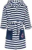 Gestreepte badjas blauw/wit voor jongen 146/152 (11-12 jr)