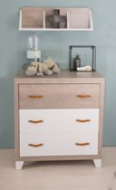 Bebies First - Babykamer Boston - Commode - Wit - Grijs