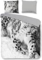 Pure Snow Leopard - Dekbedovertrek - Tweepersoons - 200x200/220 cm + 2 kussenslopen 60x70 cm - Grijs