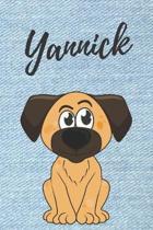 Yannick Hunde-Notizbuch / Malbuch / Tagebuch: Individuelles personalisiertes blanko Jungen & M�nner Namen Notizbuch, blanko DIN A5 Seiten. Ideal als U