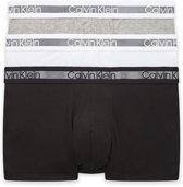 Calvin Klein - Heren 3-Pack Trunk Boxershorts Zwart Grijs Wit - S