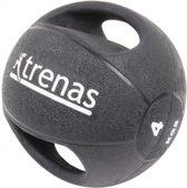 Trenas Medicijnbal - Medicine bal met dubbele handgrepen - Medicine bal Dual Grip - 4 kg - Zwart - (Professioneel gebruik)