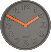 Zuiver Concrete Time - Klok - Grijs/Oranje