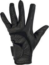 HKM Rijhandschoenen -soft leer- zwart M