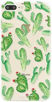 Iphone 7 Plus - TPU Soft Case - Back Cover telefoonhoesje - Cactus