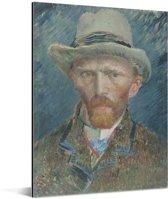 Zelfportret 1887 - Schilderij van Vincent van Gogh Aluminium 30x40 cm - klein - Foto print op Aluminium (metaal wanddecoratie)