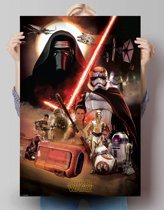 STAR WARS EPISODE VII THE FORCE AWAKENS Montage  - Poster 61 x 91.5 cm