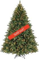 Kunstkerstboom PVC Washington Deluxe met Warm LED verlichting Snelle Opbouw 210 cm
