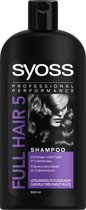 SYOSS Full Hair 5 Shampoo 500 ml - 1 stuk - Professioneel fullness en volume