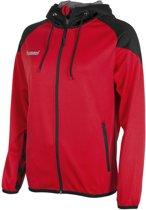 Hummel Authentic Full Zip Hoodie  Trainingsjas - Maat M  - Vrouwen - rood/zwart