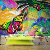 Fotobehang - Kleurige Vlinder , multi kleur , 1 maat