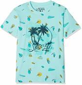 LOSAN jongens T-shirt kleur: mintgroen maat: 128 cm (8 Y)