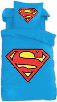 Superman Dekbedovertrek - Eenpersoons - 140x200 cm - Blauw
