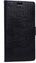 Casify - Zwarte Krokodillen Wallet Case Hoes - Huawei Y635