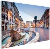 Piazza di Spagna Rome Glas 30x20 cm - Foto print op Glas (Plexiglas wanddecoratie)
