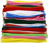 Chenille draad, dikte 4+6+9 mm, l: 30 cm, diverse kleuren, 700div