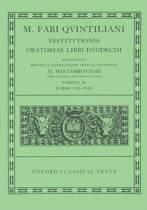 Quintilian Institutionis Oratoriae Vol. II