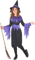 Halloween heksen kostuum voor meisjes - Verkleedkleding - 116/122