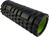 Tunturi Yoga Grid Foam Roller Massage - Fitness Roller - Triggerpoint massage - 33cm - Zwart/Groen