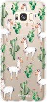 FOONCASE Samsung Galaxy S8 hoesje TPU Soft Case - Back Cover - Alpaca / Lama
