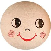 Katoenbal met gezicht, d: 30 mm, 10stuks