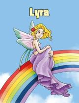 Lyra: Personalized Composition Notebook - Wide Ruled (Lined) Journal. Rainbow Fairy Cartoon Cover. For Grade Students, Eleme