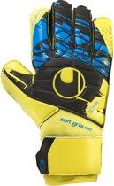 Uhlsport Eliminator Speed Up Soft Pro  Keepershandschoenen - Unisex - blauw/geel/zwart