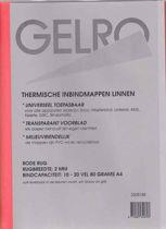 Thermische Inbindmappen Linnen - Transparant Voorblad - 25 Stuks