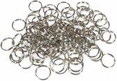 Ringen - Ring - Sleutelringen - Sleutelring - Metaal - Metalen Ringen - 20 Stuks - 10 x 24mm - 10 x 28mm