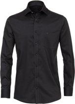 Casa Moda Heren Overhemd Zwart Kent Oxford Comfort Fit - 41
