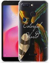 Xiaomi Redmi 6 Hoesje Feathers World
