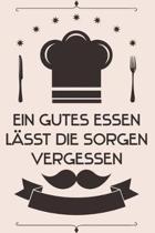 Ein gutes Essen l�sst die Sorgen vergessen: Kochbuch Rezepte-Buch liniert DinA 5, um eigene Rezepte und Lieblings-Gerichte zu notieren f�r K�chinnen u