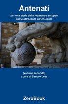 Antenati: per una storia delle letterature europee: dal Quattrocento all'Ottocento