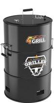 Batavia 4Grill : 4-IN-1 Olievat BBQ: grillen, roken, slow cooking & haard - poedercoated zwart
