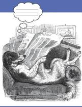 Funny Dog Reading the Newspaper
