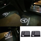 Set van 2x Auto logo LED LIGHT deur projectors I Inclusief Batterijen I voor Mercedes Benz