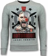 Local Fanatic Notorious Trui - Mcgregor Warrior Sweater Heren - Grijs - Maten: S