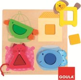 Goula Houten Puzzel - Huisdieren - 12 Stukjes