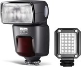 Metz Kit Mecablitz 52 AF-1 Canon + Mecalight LED-160