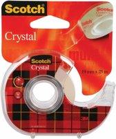 24x Scotch Plakband Crystal 19mmx25 m, blister met 1 afroller met 1 rolletje