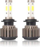 2 STKS X6 H7 36 W 3600LM 6500 K 4 COB LED Auto Koplamp Lampen DC 9-32 V Wit Licht (Metallic Grijs)