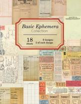 Basic Ephemera Collection: 18 sheets - 9 designs - 2 of each design
