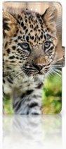 Huawei Ascend G7 Uniek Design Hoesje Baby Luipaard